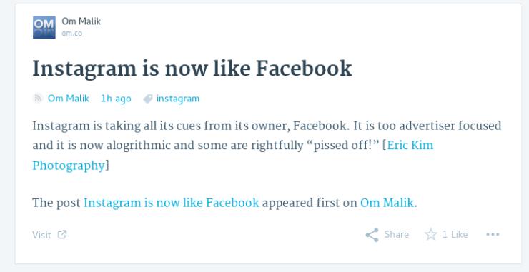 Instagram is now like Facebook